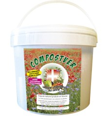 COMPOSTVER, engrais organique solide naturel. Seau de 2,5 kg