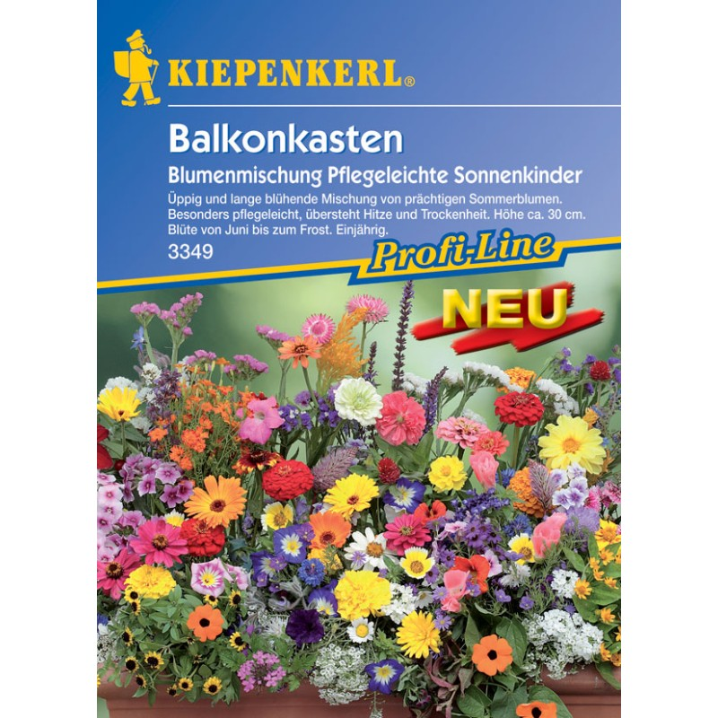 Les enfants de l'été – Mélange de fleurs faciles à cultiver pour jardinières de balcon
