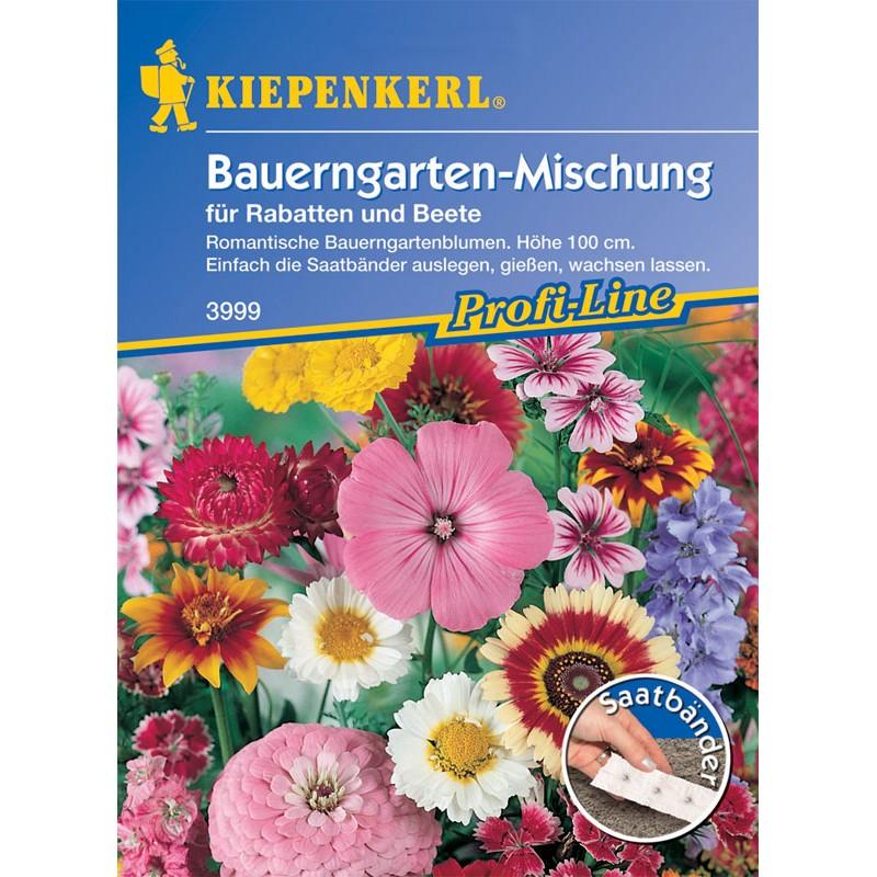 Jardin paysan – Mélange de fleurs en rubans présemés